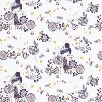 Dashwood Studios - Autumn Rain - Girls Allover, per fat quarter  **WAS £2.85**