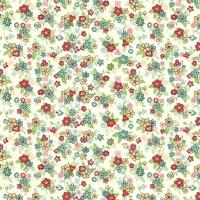 <!--3222-->Makower UK - Katie Jane Multi Floral in Cream, per fat quarter