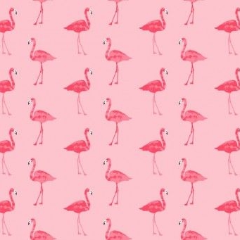 Makower UK - Fruity Friends Flamingo in Pink, per fat quarter