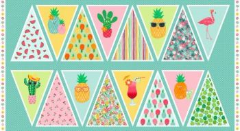 Makower UK - Fruity Friends Bunting Panel, per panel