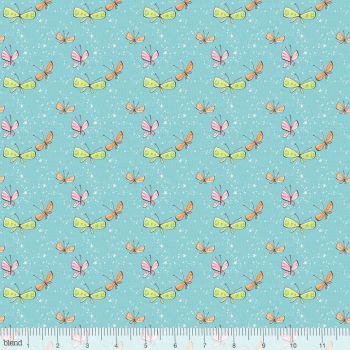 Blend Fabrics - Sugar & Spice - Kaleidoscope in Light Blue, per fat quarter