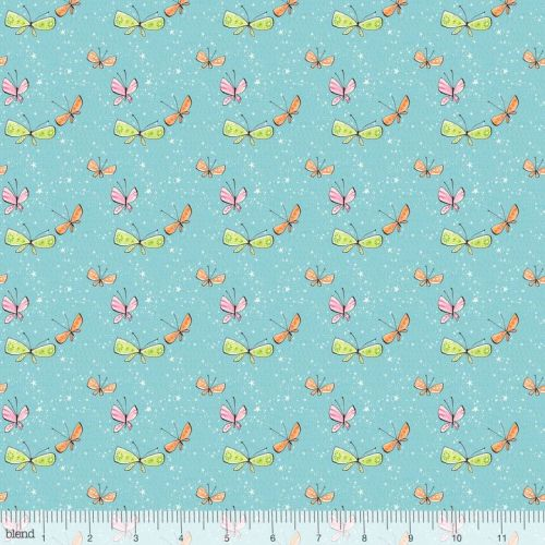 <!--5210-->Blend Fabrics - Sugar & Spice - Kaleidoscope in Light Blue, per