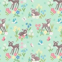<!--4211-->Lewis &amp; Irene - So Darling! Little Deer on Mint, per fat quarter