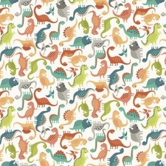 Makower UK - Rex Mini Scatter in Cream, per fat quarter