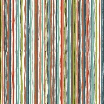 <!--3249-->Makower UK - Rex Wavy Multi Stripe in Grey, per fat quarter