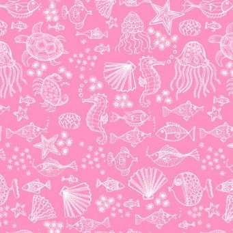 <!--3255-->Makower UK - Merryn Tonal on Pink, per fat quarter