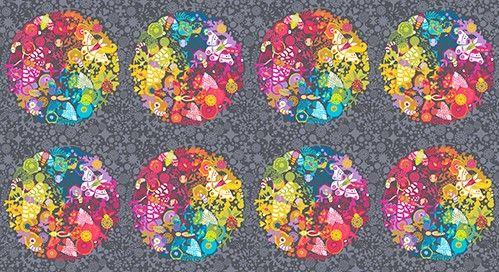 <!--3192-->Makower UK - Art Theory Panel in Charcoal, per panel