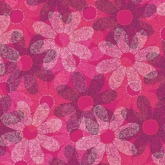 Makower UK - Sundance Dotty Daisy in Pink, per fat quarter  ***WAS £2.65***
