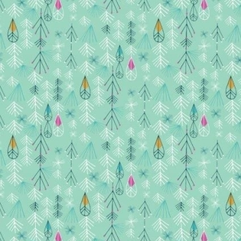 Dashwood Studios - Flock - Leaves, per fat quarter