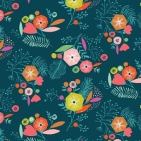 <!--5019-->Dashwood Studios - Flock - Multi Flowers, per fat quarter