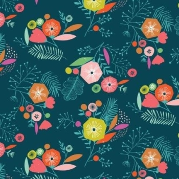 Dashwood Studios - Flock - Multi Flowers, per fat quarter