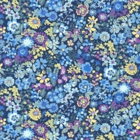 <!--2901-->Sevenberry - Floral on Blue, per fat quarter