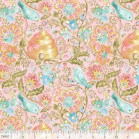 <!--5222-->Blend Fabrics - A Meadow's Tale - Hive and Finch in Pink, per fat quarter