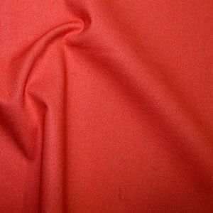 **NEW**  Rose & Hubble True Craft Cotton - Plain in Hot Tomato 19, per fat quarter