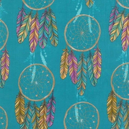 <!--5301-->Michael Miller Fabrics - Catching Dreams - Dream On in Turquoise