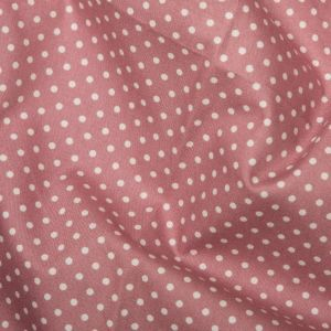 Rose & Hubble - 3mm Polka Dot in Rose Pink, per fat quarter