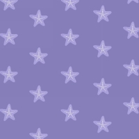 <!--5358-->Studio E - Mermaid Dreams - Starfish on Lavender, per fat quarter