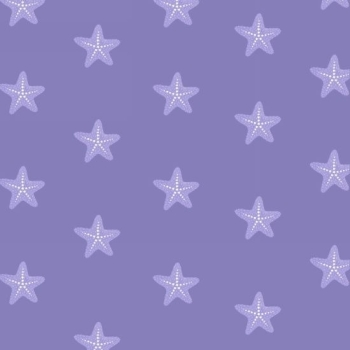 Studio E - Mermaid Dreams - Starfish on Lavender, per fat quarter