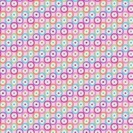 P&B Textiles - Bloom - Kaleidoscope on Pink, per fat quarter