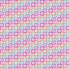 P&B Textiles - Bloom - Kaleidoscope on Pink, per fat quarter **USUALLY £3.00**