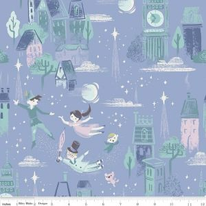 Riley Blake - Neverland - Main in Periwinkle, per fat quarter