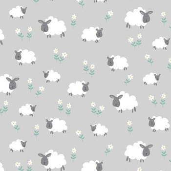 Makower UK - Counting Sheep Sheep on Grey per fat quarter