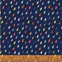 <!--5511-->Windham Fabrics - Paint The Town - Raindrops on Blue, per fat quarter