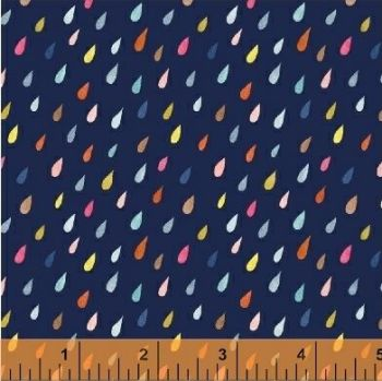 Windham Fabrics - Paint The Town - Raindrops on Blue, per fat quarter