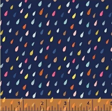 <!--5511-->Windham Fabrics - Paint The Town - Raindrops on Blue, per fat qu