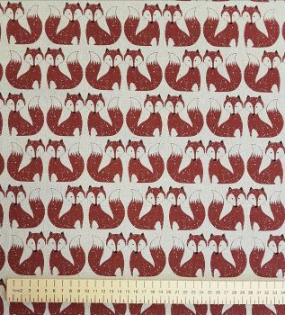 Dashwood Studios - Chalkhill - Foxes, per fat quarter