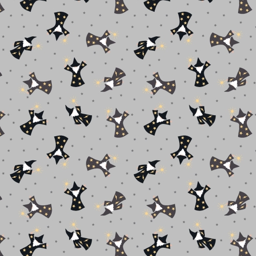 <!--4244-->Lewis & Irene - Small Things Magical Wizards on Grey (With gold