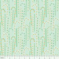 <!--9108-->Blend Fabrics - Kringle's Sweet Shop - Candy Cane in Forest Green, per fat quarter