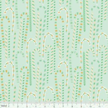 Blend Fabrics - Kringle's Sweet Shop - Candy Cane in Forest Green, per fat quarter
