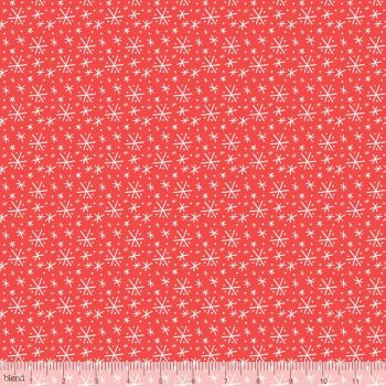 Blend Fabrics - Snowlandia - Blizzard in Red, per fat quarter