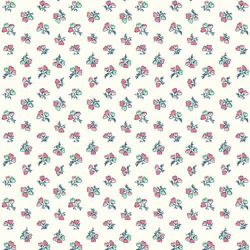 <!--7006-->Liberty Of London - Tea For Two - Heart Bouquet, per fat quarter