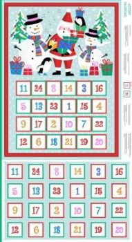 Makower UK - Jolly Santa Advent Calender Panel, per panel