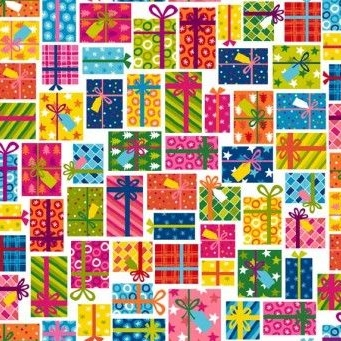 Makower UK - Joyeux Presesnts, per fat quarter