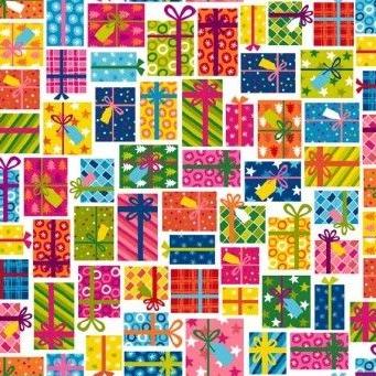 <!--9044-->Makower UK - Joyeux Santa Icons on Red, per fat quarter