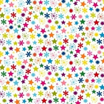 Makower UK - Joyeux Stars, per fat quarter