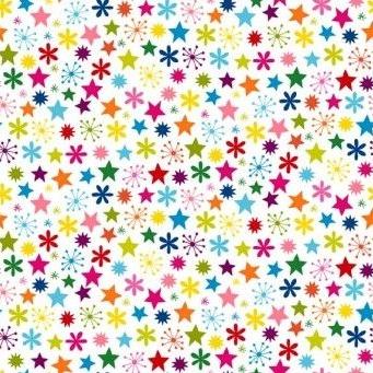 Makower UK - Joyeux Stars, per fat quarter