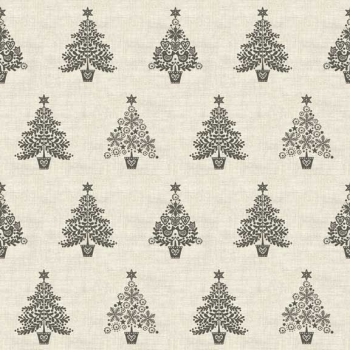 Makower UK - Scandi Trees in Grey, per fat quarter