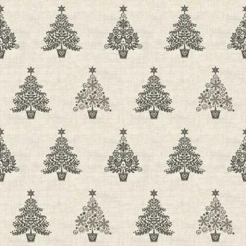 Makower UK - Scandi Trees in Grey, per fat quarter