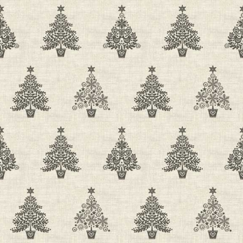 <!--9056-->Makower UK - Scandi Trees in Grey, per fat quarter