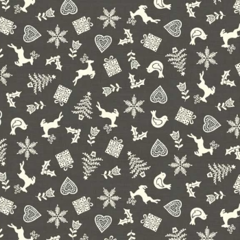 Makower UK - Scandi Scatter in Grey, per fat quarter