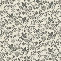 <!--9058-->Makower UK - Scandi Scroll in Grey, per fat quarter