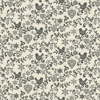 Makower UK - Scandi Scroll in Grey, per fat quarter