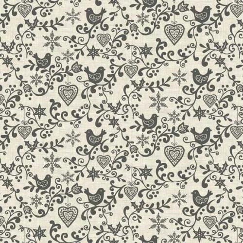 <!--9058-->Makower UK - Scandi Scroll in Grey, per fat quarter