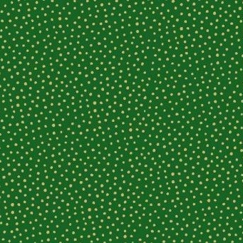 <!--9071-->Makower UK - Silent Night Metallic Spot in Green (with gold meta