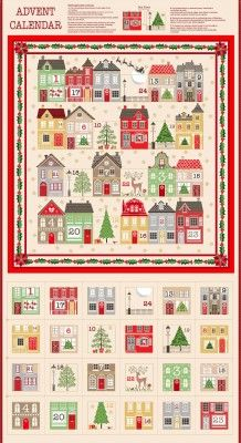 <!--9073-->Makower UK - Silent Night Advent Calender Panel (with gold metal
