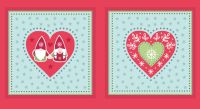 <!--9053-->Lewis & Irene - A Hygge Christmas Tonttu Cushion Panel in Red, per panel